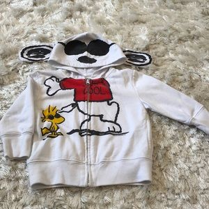 Other - Peanuts Snoopy Zippered Hoodie, 2T